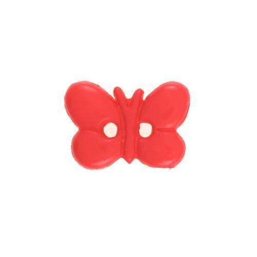 Kinderknöpfe kaufen Schmetterling KK-37rot