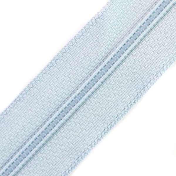 Reißverschluss 3mm Spirale hellblau