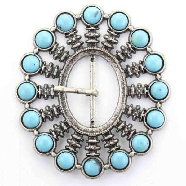 Gürtelschnalle mit Perlen SM-54as-perle