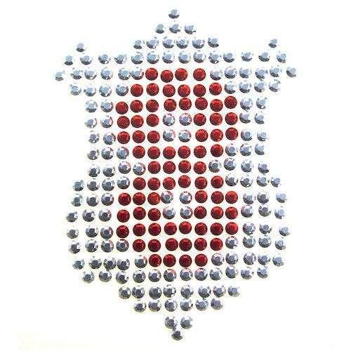 Bügelbild Wappen Straßsteinen