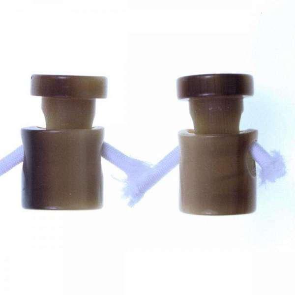 Kordelstopper mit Melierung KOST-3 rotbr 20