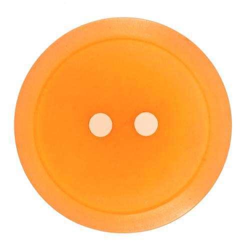 Knöpfe mit schlichtem Rand orange KO-17