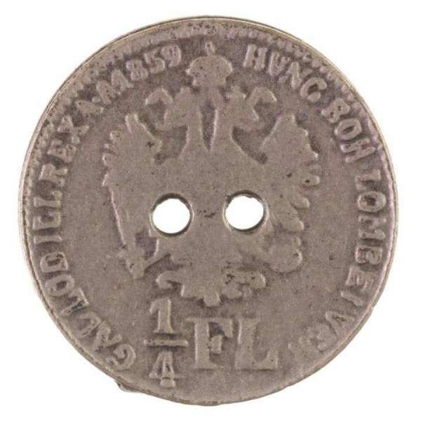 Knöpfe Münze 1 4 FL silber MK-468s