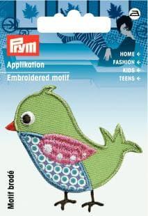 Applikation Vogel grün AP-924212