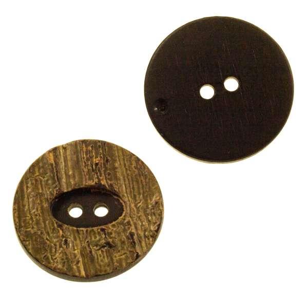 Große Knöpfe kaufen! Kunststoff Knopf in Hornoptik hk-12