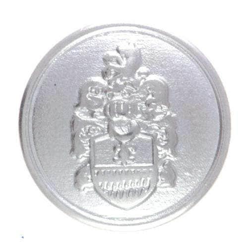 Druckknöpfe Wappen silber NK-124s