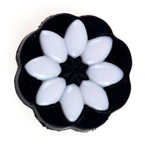 Knöpfe mit Blumenmotiv BL-100 schw