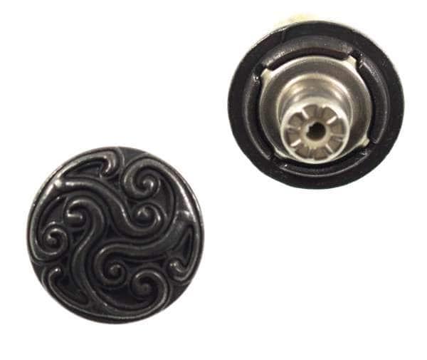 Jeansknöpfe Ornament nj-62-schwarz-kupfer