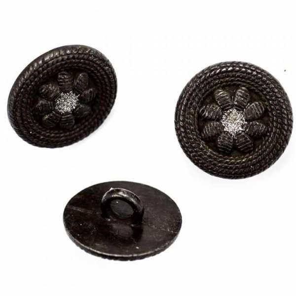 Trachtenknöpfe Blumen Knöpfe tk-108-schwarz
