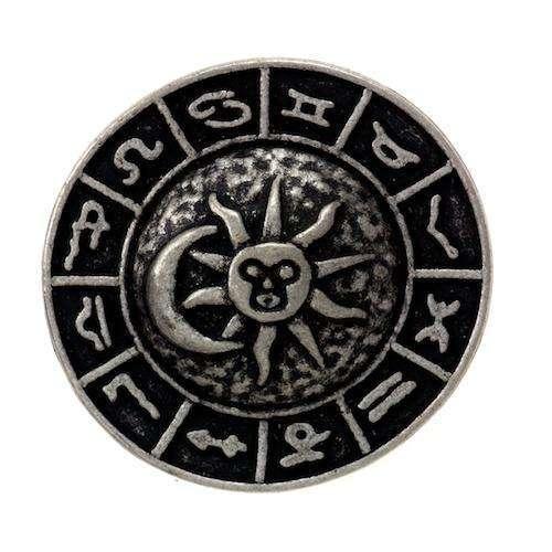 Knöpfe aus Metall mit Sternzeichen-MK-476as
