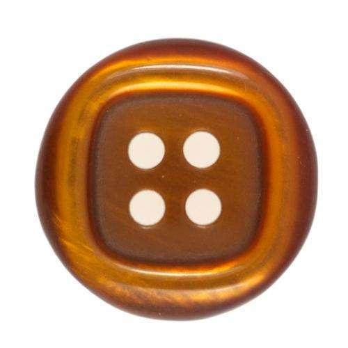 Knöpfe mit glänzendem Rand braun KBR-102